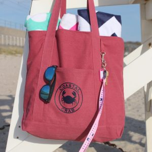 Nantucket Red Canvas Bag