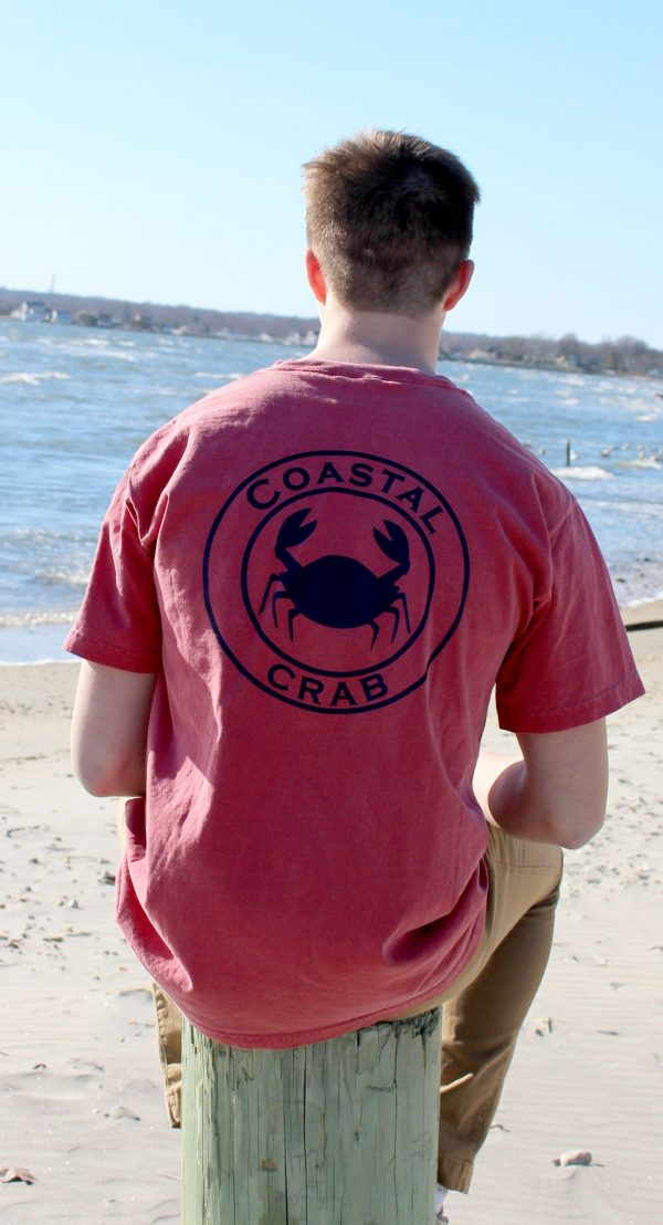 Adult T-Shirt Nantucket Red with Navy Imprint