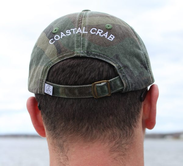 Green Camo with White  Embroidery