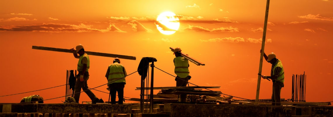 Construction employment rate increases, but trails pre-pandemic high