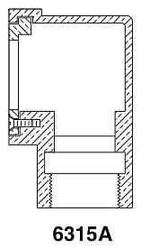 PEM 6315A Adjustable Wall Overflow [#611-0230] : Coastal