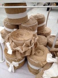 Wide rolls of burlap