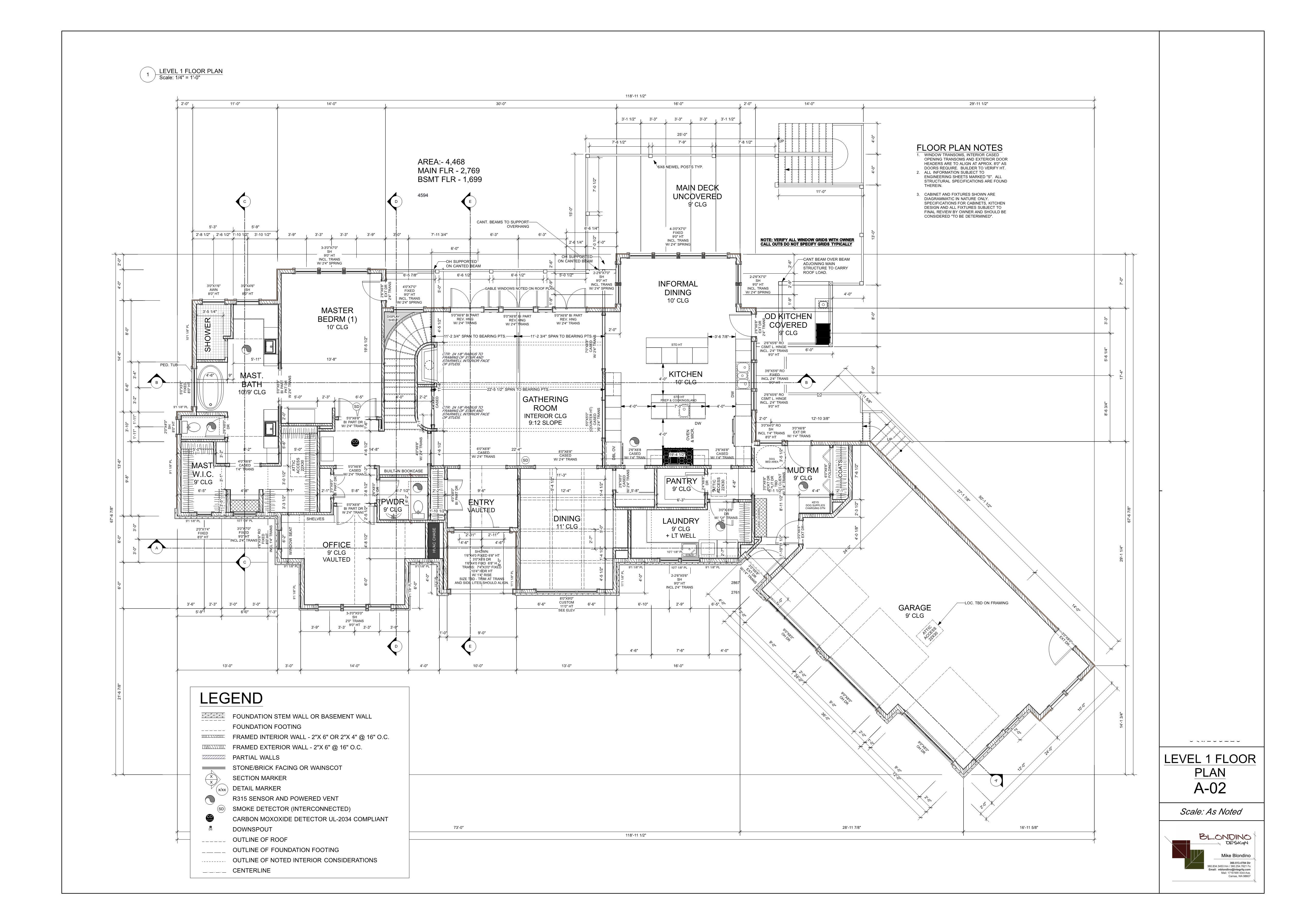 Final design main level floorplan