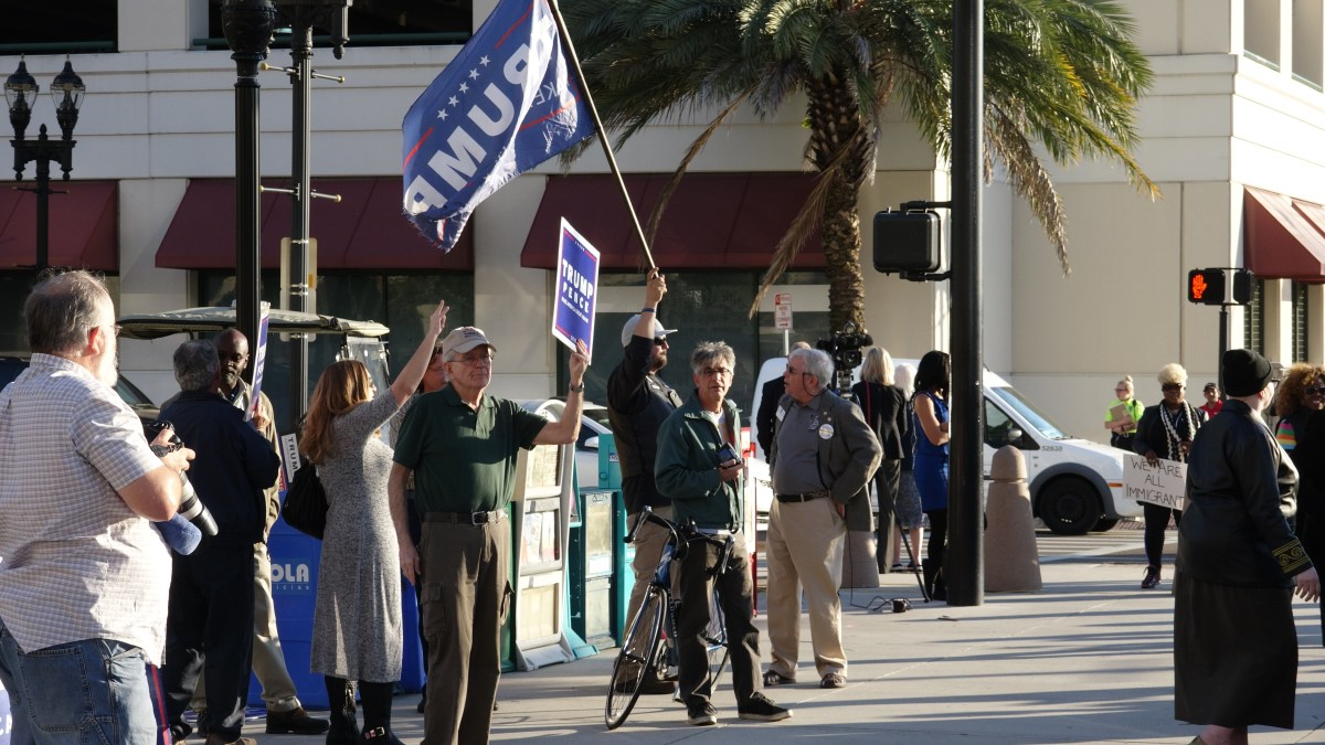 Trump supporters gathered in Jacksonville, FL