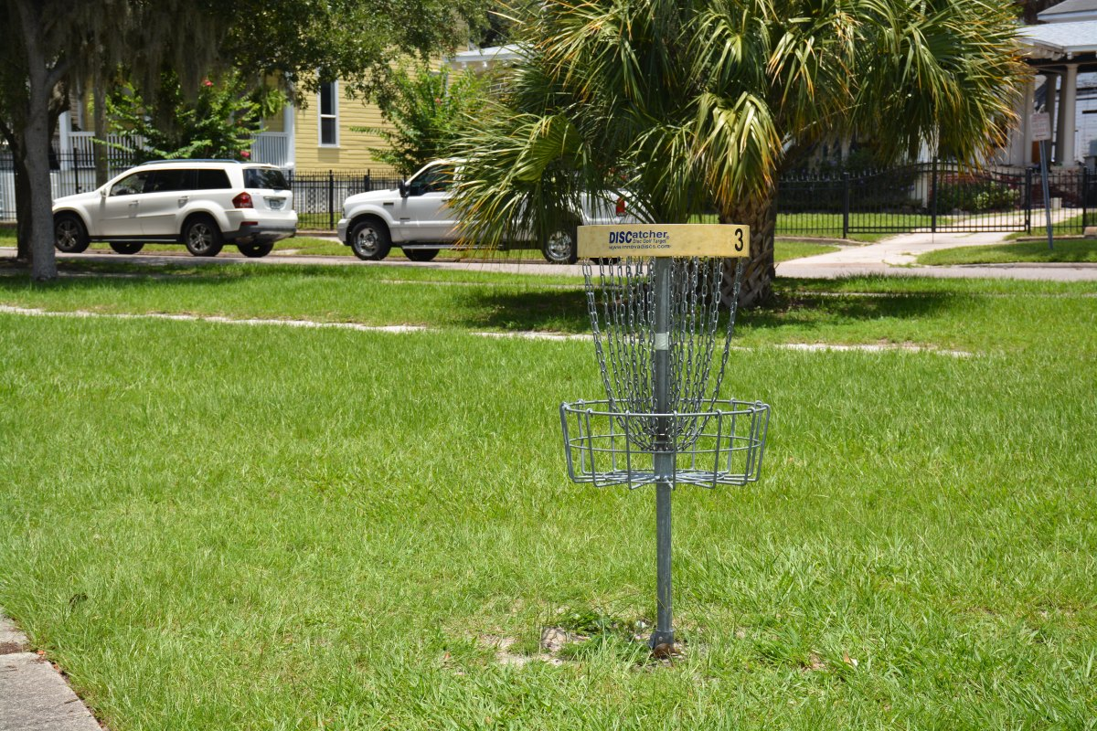 disc golf course at Klutho Park, Jacksonville, FL