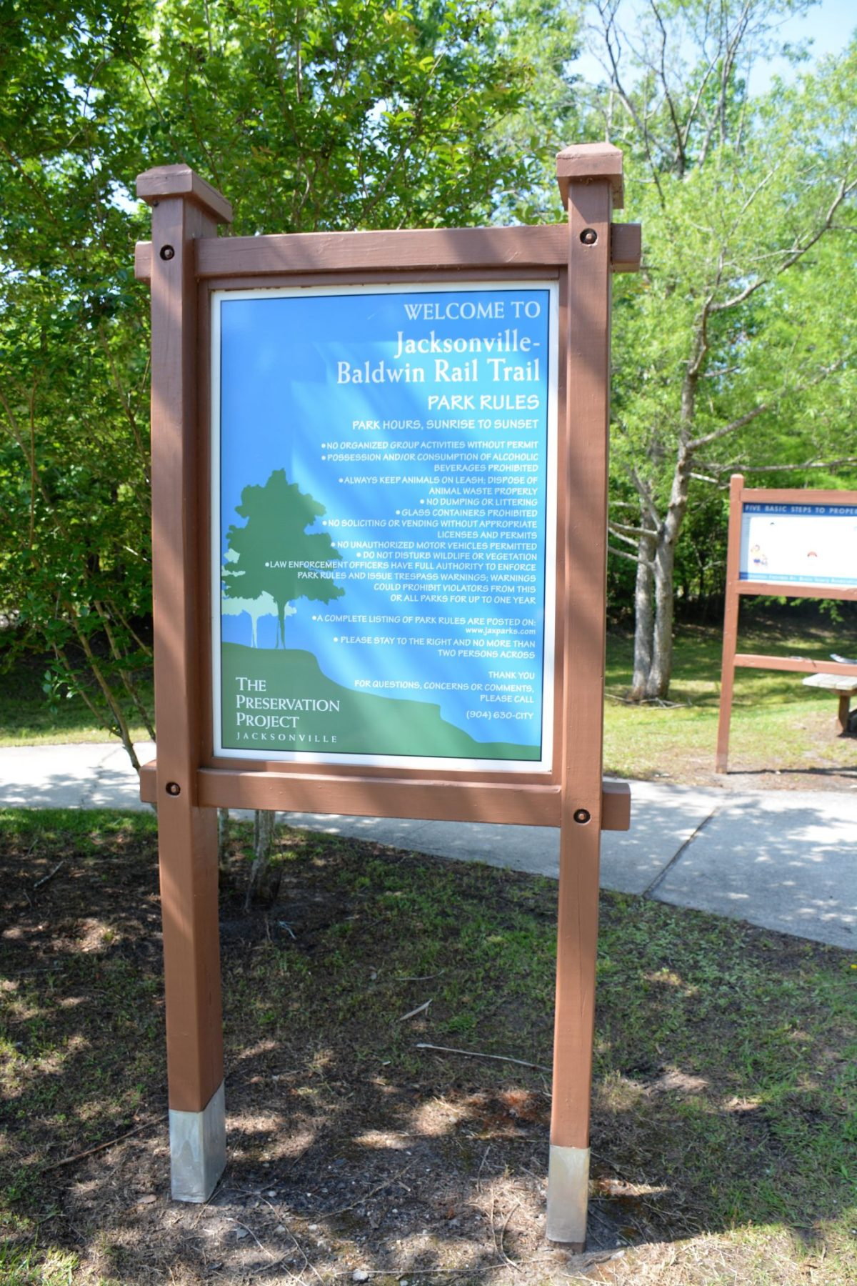 Imeson Trailhead of Jacksonville-Baldwin Rail Trail