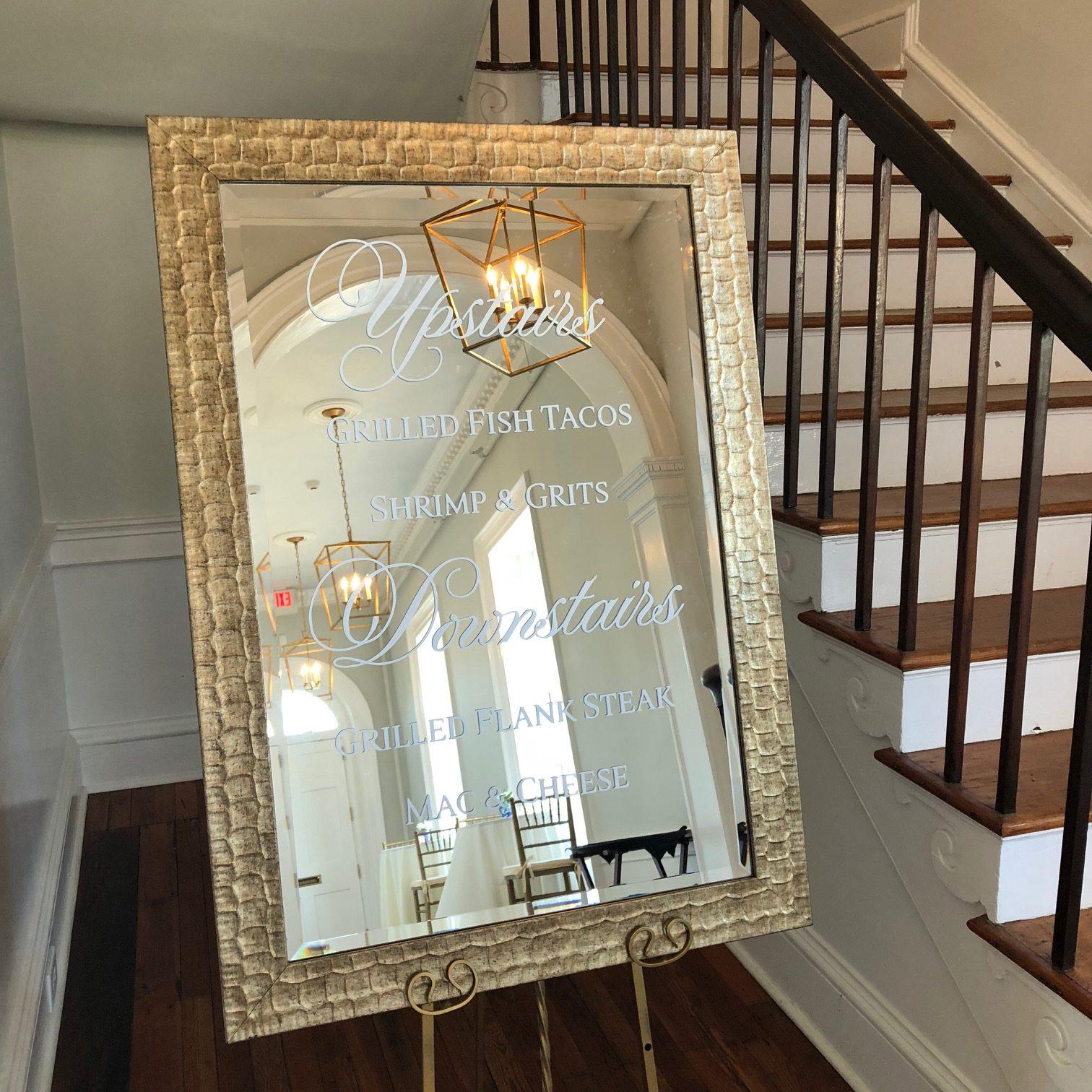 Custom Wedding Mirrors
