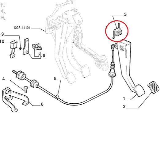 Fiat Ducato Peugeot Boxer Citroen Relay Clutch Pedal