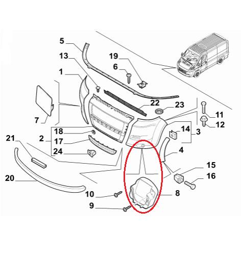 Fiat Ducato Peugeot Boxer Citroen Relay Spot Light Holder