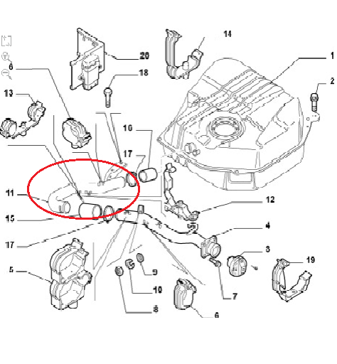 Fiat Ducato Peugeot Boxer Citroen Relay Filler Neck