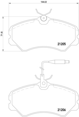 Talbot Express Fiat Ducato Front Brake Pads 1800 Peugeot