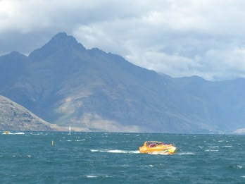 Wild and windy lake view from Queenstown