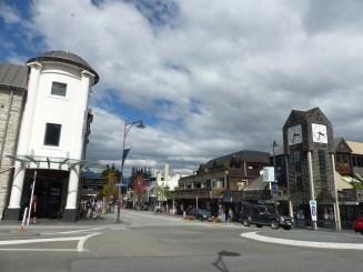 Main drag in Queenstown