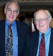 John Geyman, MD (left), who presented the 12th G. Gayle Stephens Lecture in 2002, with Dr Stephens