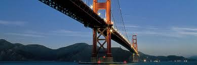 The Golden Gate Bridge spanning the entrance to San Francisco Bay