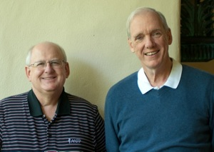 Colin Kopes-Kerr, MD (right), the 2013 Perry A. Pugno National Conference Scholar with Dr Pugno
