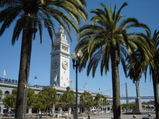 The Ferry Building with San Francisco Bay Bridge in background