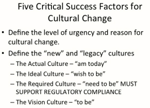 First Steps for Successful Culture Change