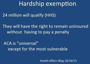 """""""The Hardship Exemption"""""""