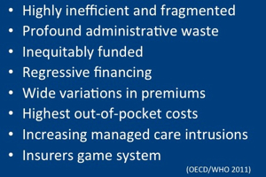 Findings of OECD, WHO study of Swiss system of funding healthcare through private insurers