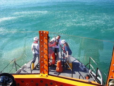 steve holmes winching rnli Coastal safety rya sea school