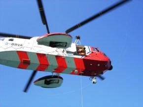 CG WB helo Coastal safety rya sea school