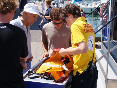 coastal safety showing group lifejacket