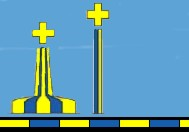 blue yellow buoy