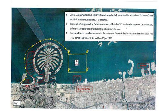 Marine Fireworks Dubai New Year  2019