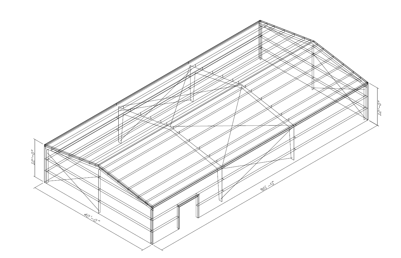 Prefabricated 40 X 80 Metal Building Kits