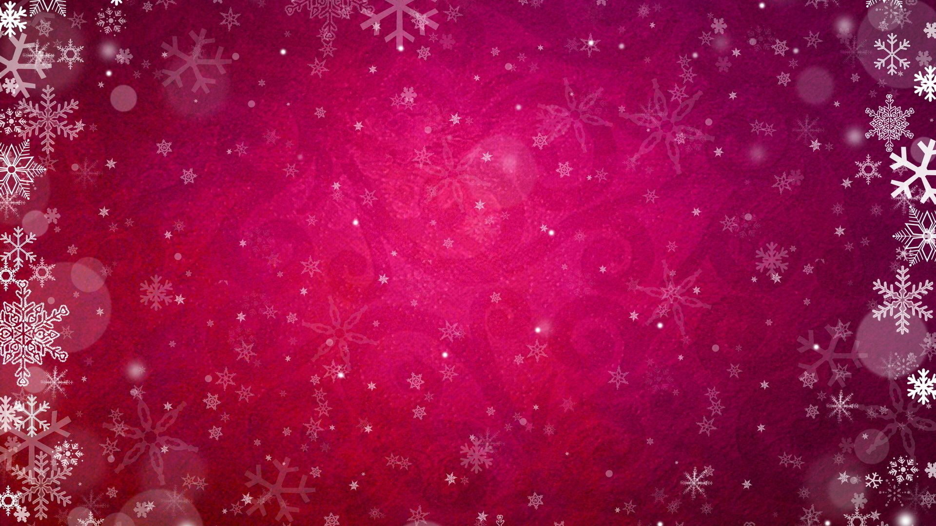 pink-snowflakes-background
