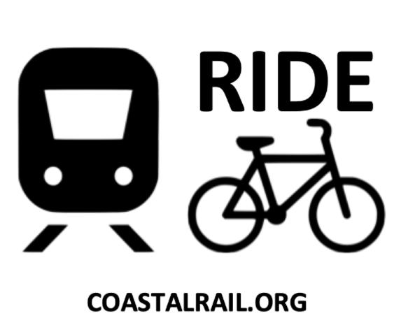 Coastal Rail logo with bike and streetcar