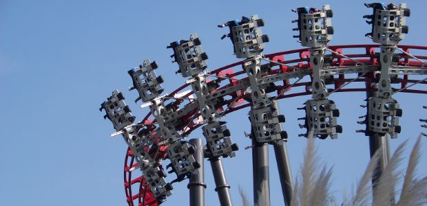 """It's shorter and slower than most of the rides on the list, but holy moly, x2 is scary with a capital """"s."""" X2 At Six Flags Magic Mountain Coasterbuzz"""