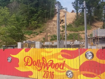 Lightning Rod Roller Coaster Construction - Dollywood
