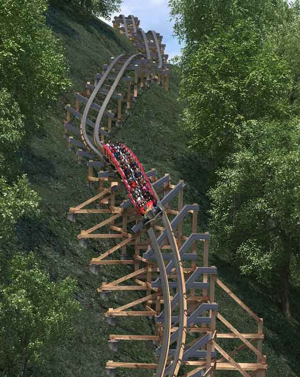 Lightning Rod - Dollywood - Quadruple Down