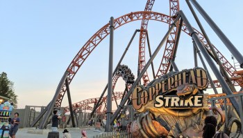 New Roller Coaster Copperhead Strike Launching at Carowinds