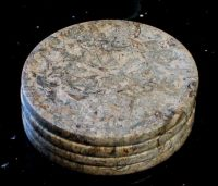Fossil Stone Drink Coasters