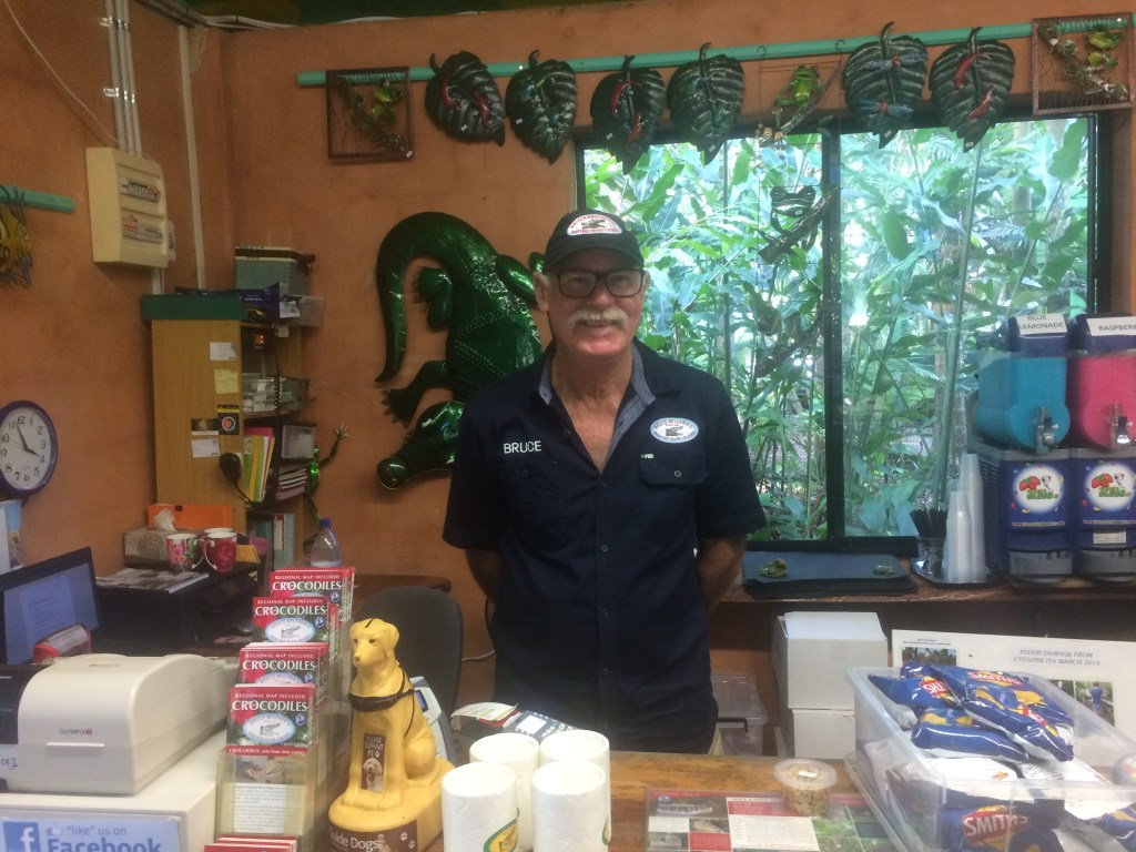Bruce Belcher - running a family river cruise in the Daintree