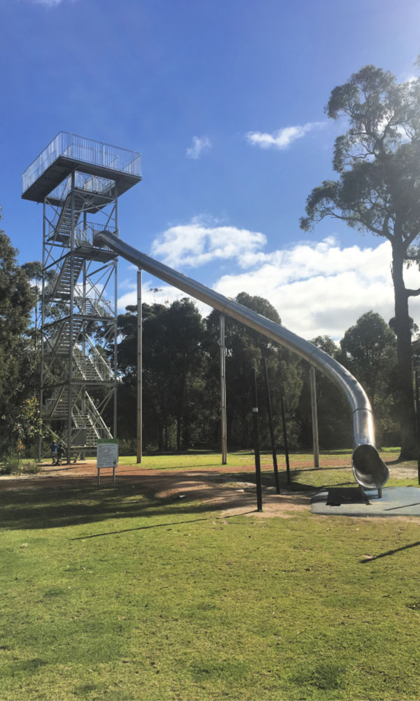 A giant slide at Manjimup Timber Park, south-west Australia