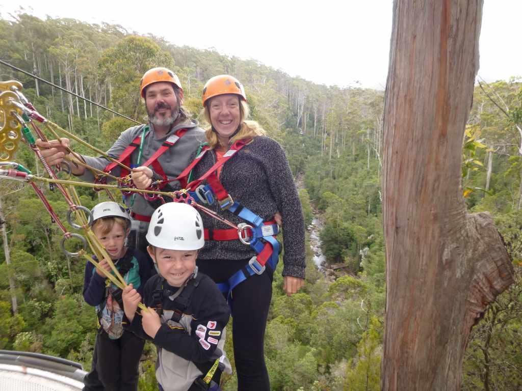 Family adventure at Hollybank Treetops Adventure
