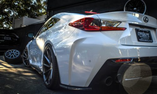 Lexus RC-F Lowered with Vossen Wheels