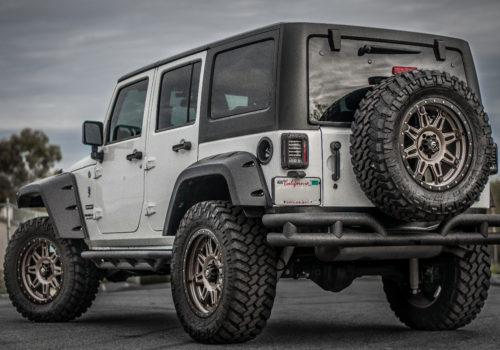 Jeep Wrangler w/ LED Smoked Tail Lights
