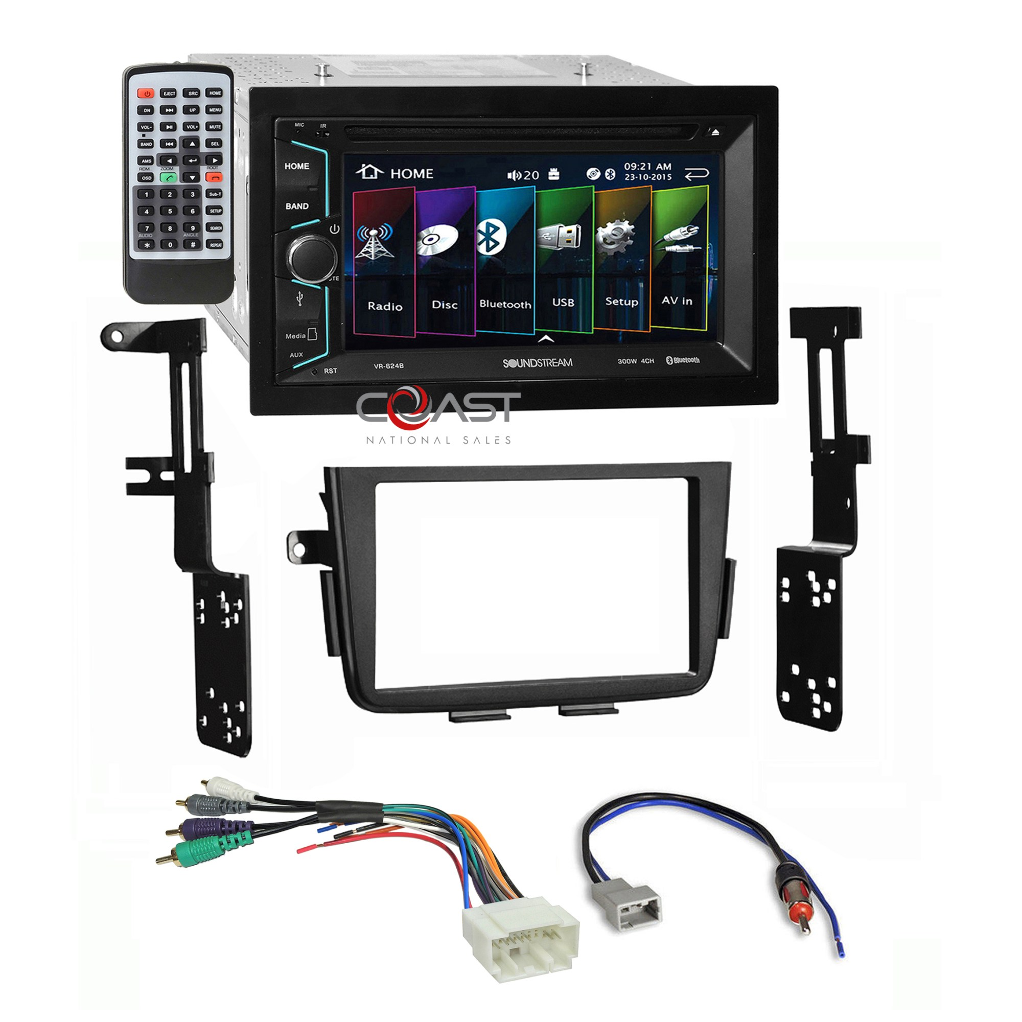 hight resolution of details about soundstream dvd bt camera input stereo dash kit amp harness for 01 06 acura mdx