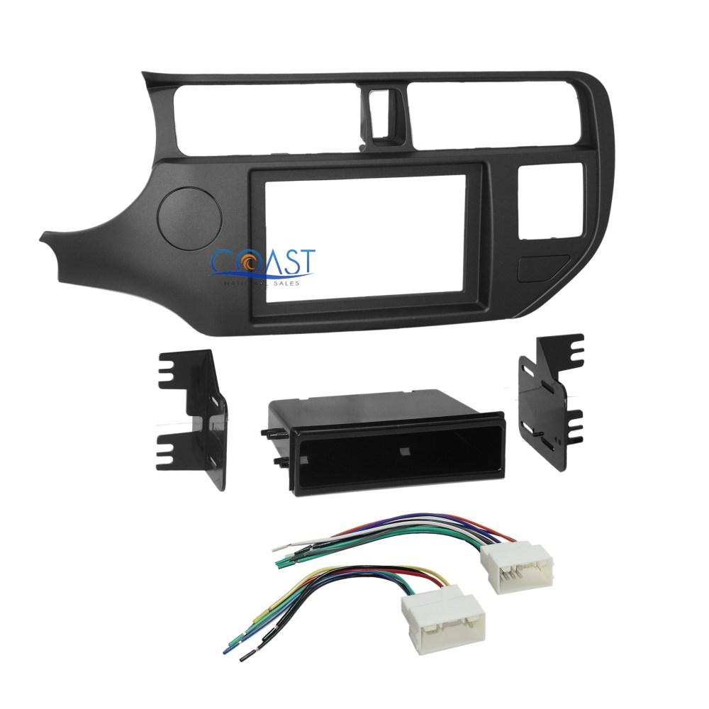 medium resolution of car radio stereo din 2 din dash kit pocket wire harness for 2012 up kia rio