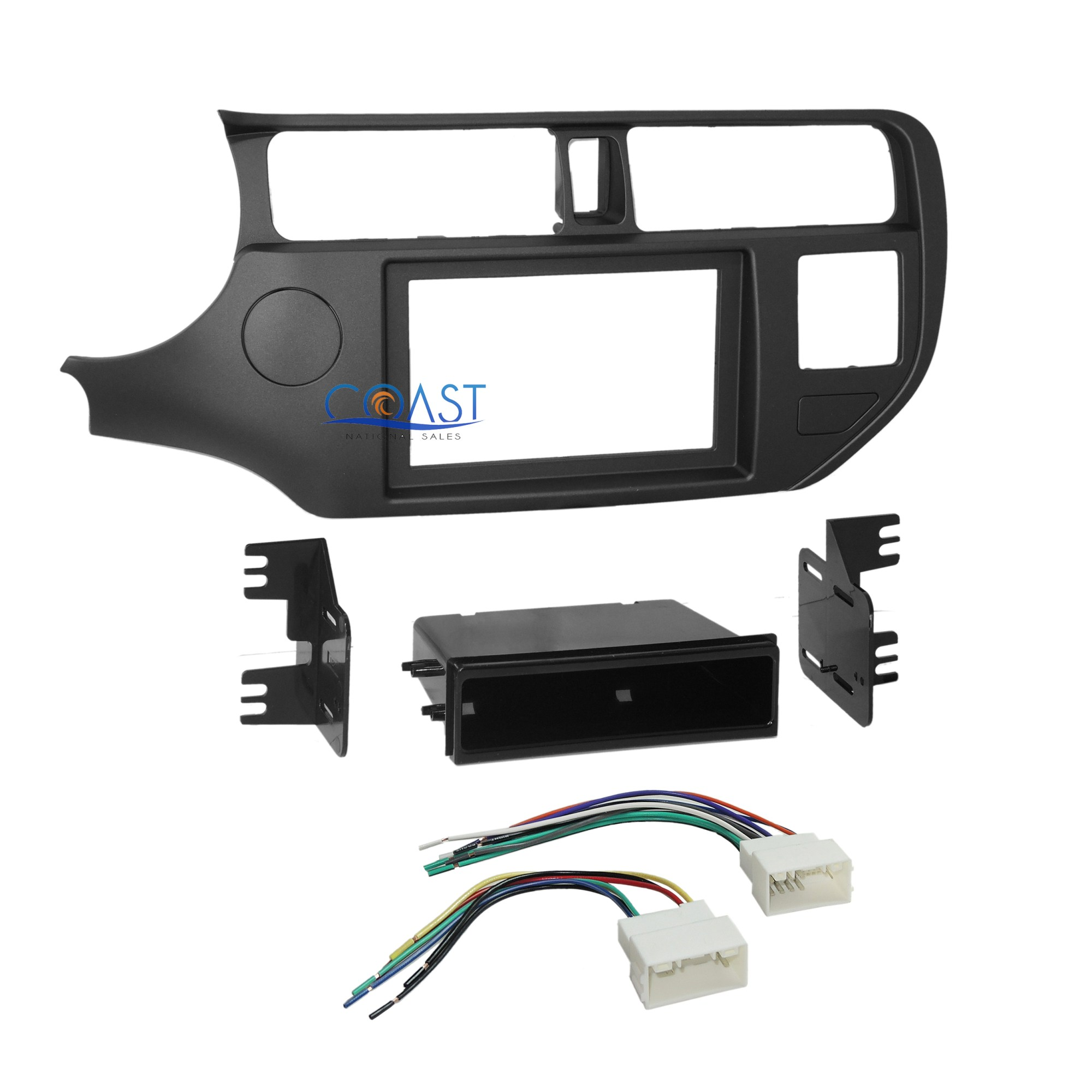 hight resolution of car radio stereo din 2 din dash kit pocket wire harness for 2012 up kia rio