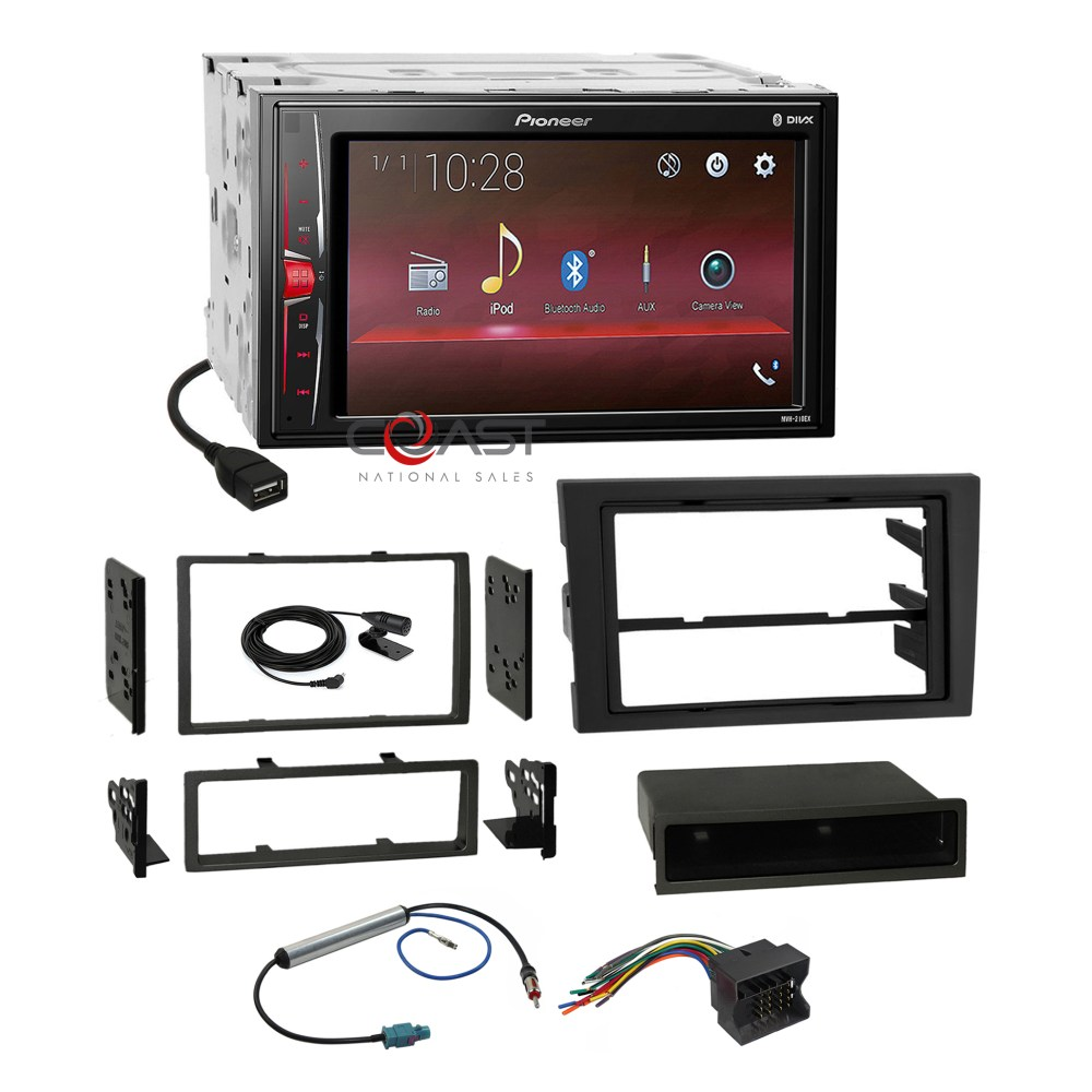 medium resolution of details about pioneer mp3 usb bt stereo dash kit harness for 02 08 audi a4 s4 symphony radio