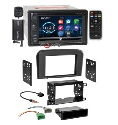 details about power acoustik dvd bt sirius stereo stereo dash kit harness for 99 06 volvo s80 [ 2038 x 2038 Pixel ]