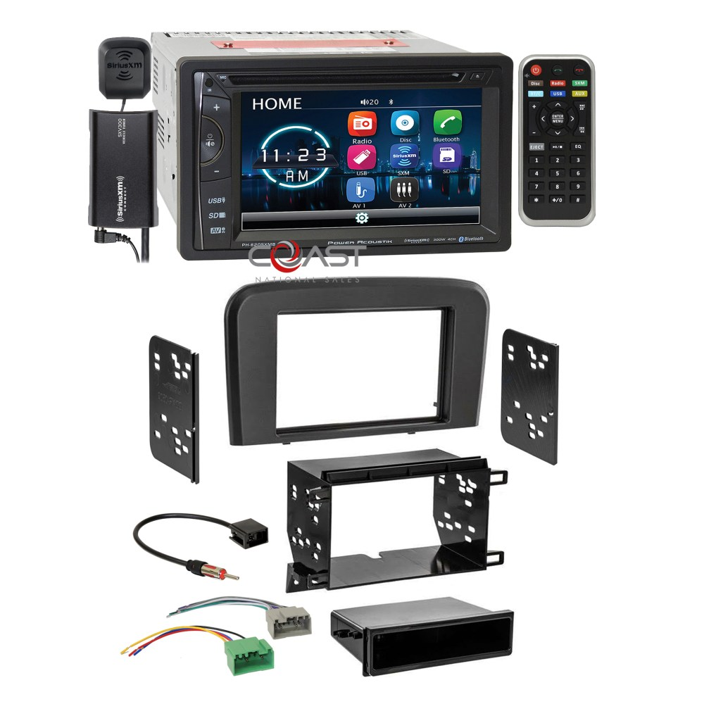medium resolution of details about power acoustik dvd bt sirius stereo stereo dash kit harness for 99 06 volvo s80