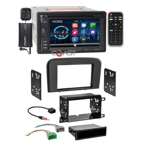 small resolution of details about power acoustik dvd bt sirius stereo stereo dash kit harness for 99 06 volvo s80