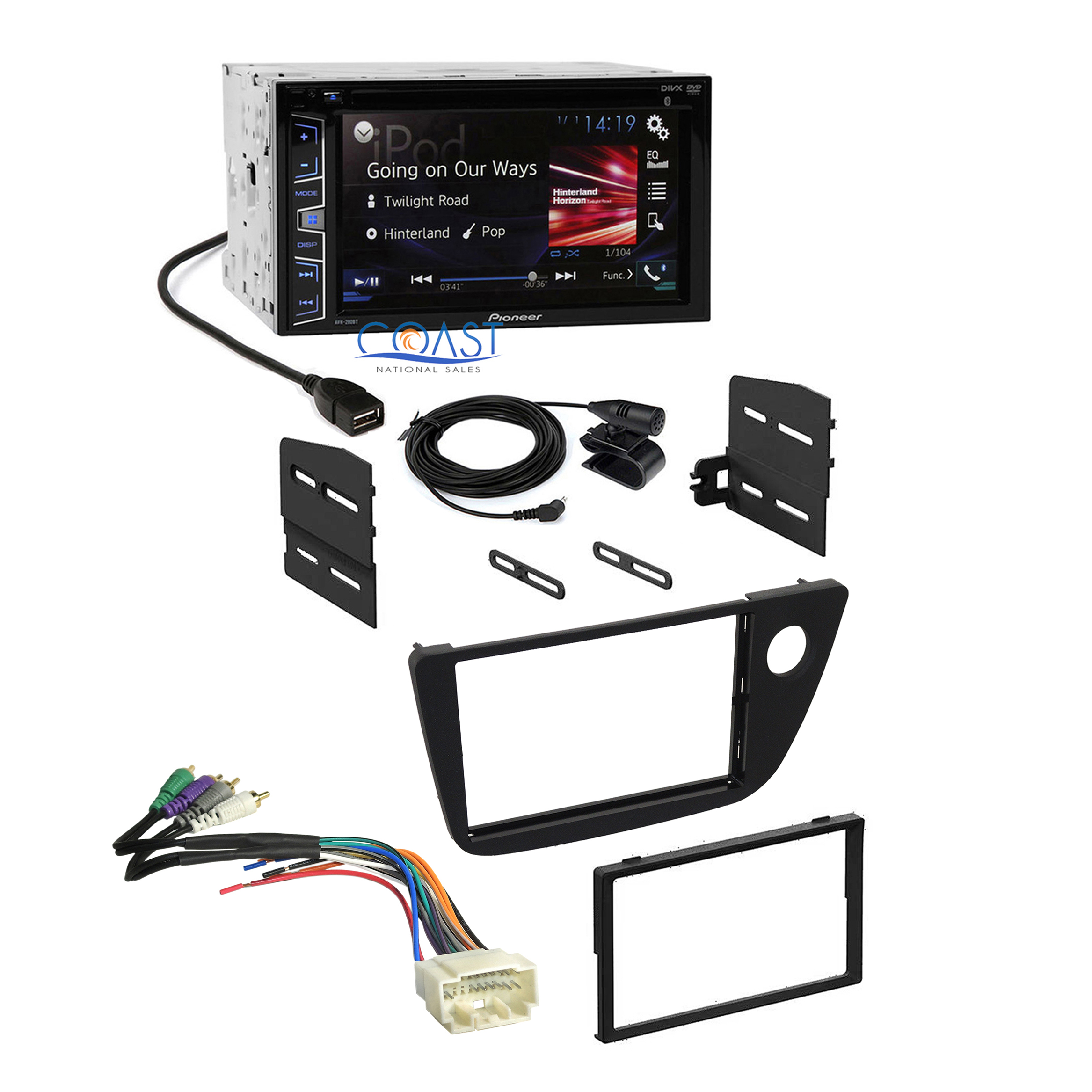 pioneer dvd radio wiring diagram 5 pin 2016 stereo dash kit amplifier wire harness